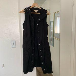 Michael Kors Hooded Button Up Vest